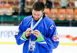 Jan Urbas of Slovenia after the ice hockey match between National Teams of Austria and Slovenia in 5th Round of 2016 IIHF Ice Hockey World Championship Division 1 - Group A, on April 29, 2016 in Spodek Arena, Katowice, Poland. Photo by Marek Piuyzs / Sportida