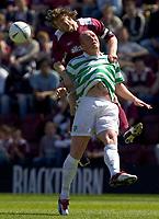 Hearts v Celtic, Scottish Premier League, Tynecastle Park, Edinburgh. Pic Shaun Dempsey, 15/05/2005<br /> Pressley heads clear from HaRTSON