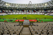 General stadium view inside the London Stadium before the The FA Cup 3rd round match between West Ham United and Birmingham City at the London Stadium, London, England on 5 January 2019.