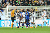 Carton jaune Ricardo Carvalho - 14.04.2015 - Juventus Turin / Monaco - 1/4Finale aller Champions League<br /> Photo : Jean Paul Thomas / Icon Sport