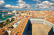 Arial view of St Mark's Square, Venice Italy