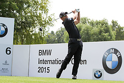 26.06.2015, Golfclub München Eichenried, Muenchen, GER, BMW International Golf Open, Tag 2, im Bild Pablo Larrazabal (ESP) am Abschlag, Tee // during day two of the BMW International Golf Open at the Golfclub München Eichenried in Muenchen, Germany on 2015/06/26. EXPA Pictures © 2015, PhotoCredit: EXPA/ Eibner-Pressefoto/ Kolbert<br /> <br /> *****ATTENTION - OUT of GER*****
