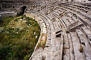 Roman amphitheatre, Anfiteatro romano, at Lecce, Apulia, Italy