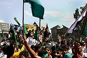 On the 22nd August 2008 an estimated 350,000 Kashmiri's marched to the Eidgha communal ground in Srinagar. Local Kashmiri's said they had never witnessed anything like it in their lifetime. .Marchers making their way to Eidgha communal ground...