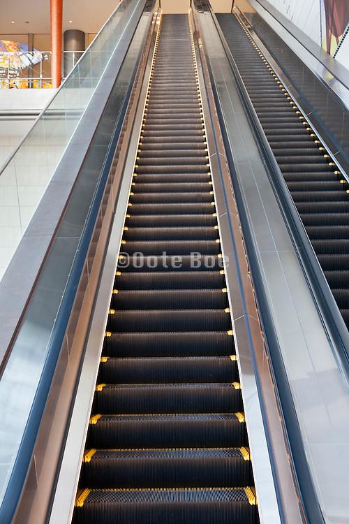 a very long escalator