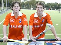 BLOEMENDAAL - Wouter Jolie en Eby Kessing. Selectie Bloemendaal heren seizoen 2005-2006 .COPYRIGHT  Koen Suyk.