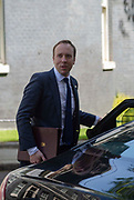 Matt Hancock MP, Secretary of State for Health, leaves after attending the weekly meeting of the Cabinet at 10 Downing Street on 14th May, 2019 in central London, England, United Kingdom.