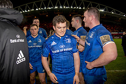 December 30, 2018 - Limerick, Ireland - Leinster players disappointed during the Guinness PRO14 match between Munster Rugby and Leinster Rugby at Thomond Park in Limerick, Ireland on December 29, 2018  (Credit Image: © Andrew Surma/NurPhoto via ZUMA Press)