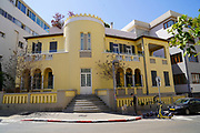 Eclectic Style Architecture at 12 Mazeh (or Maze) Street Tel-Aviv, Israel