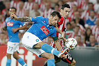 Athletic de Bilbao's Aritz Aduriz (r) and SSC Napoli's Christian Maggio during Champions League 2014/2015 Play-off 2nd leg match.August 27,2014. (ALTERPHOTOS/Acero)