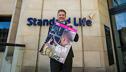 Pictured: Keith Brown<br /> Veterans minister, Keith Brown MSP visited Standard Life offices in Edinburgh today and launched a toolkit to help firms embrace the skills of veterans and support former military personnel into second careers.  Mr Brown met veteran Laura Mazzara who now works for Standard Life <br /> Ger Harley | EEm 21 March 2017