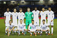 England U21 team before the UEFA European Championship Under 21 2017 Qualifier match between England and Switzerland at the American Express Community Stadium, Brighton and Hove, England on 16 November 2015. Photo by Phil Duncan.