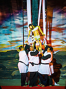 25 MARCH 2016 - BANGKOK, THAILAND:   Parishioners take down a statue of Christ during the reenactment of his crucifixion at Good Friday observances at Santa Cruz Church in Bangkok. Santa Cruz was one of the first Catholic churches established in Bangkok. It was built in the late 1700s by Portuguese soldiers allied with King Taksin the Great in his battles against the Burmese who invaded Thailand (then Siam). There are about 300,000 Catholics in Thailand, in 10 dioceses with 436 parishes. Good Friday marks the day Jesus Christ was crucified by the Romans and is one of the most important days in Catholicism and Christianity.     PHOTO BY JACK KURTZ