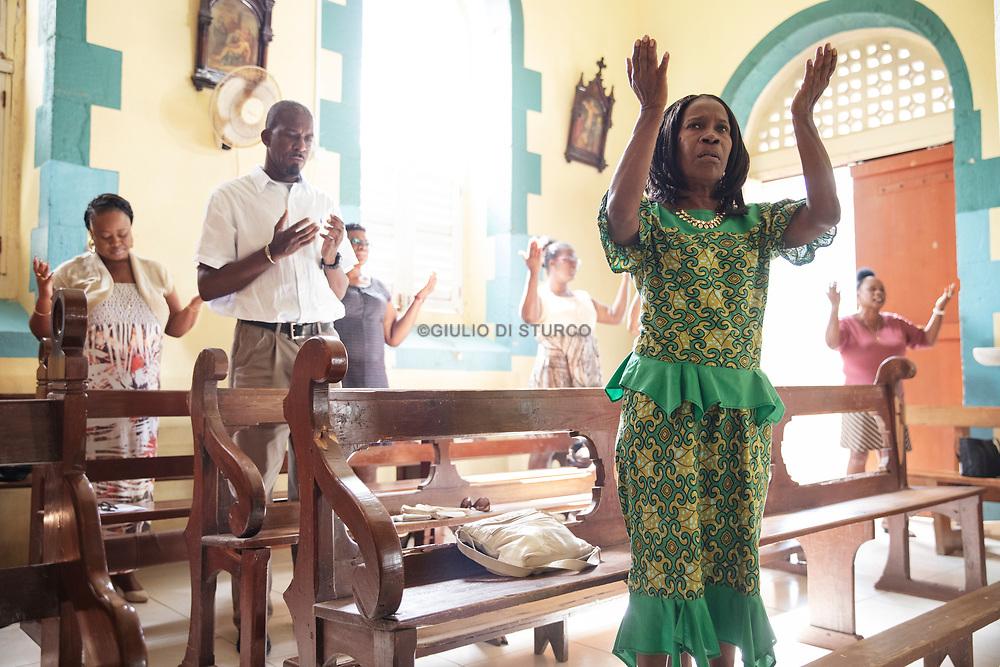 Sunday morning mass at Soufriere church