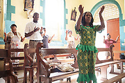 Sunday morning mass at Soufriere church