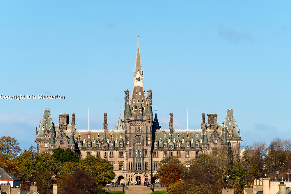 View of Fettes College in Edinburgh, Scotland, United Kingdom
