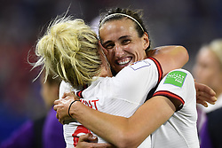June 27, 2019 - Le Havre, France - Jill Scott (Manchester City WFC) of England celebrates victory after the 2019 FIFA Women's World Cup France Quarter Final match between Norway and England at  on June 27, 2019 in Le Havre, France. (Credit Image: © Jose Breton/NurPhoto via ZUMA Press)