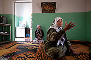 Amira, a resident of al-Basheria, Idlib describes how the Syrian army and shabiha militia attacked her village, killing her fifteen year old son as he fled into the surrounding mountains. al-Basheria, Idlib, Syria