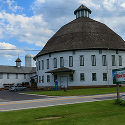 Ardentsville, PA, USA - March 23, 2012: The distinctive Round Barn in Ardentsville is located west of Gettysburg in Adams County, PA.