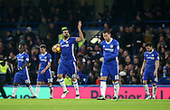 Chelsea's Diego Costa looks on dejected after Stoke's opening goal during the Premier League match at Stamford Bridge Stadium, London. Picture date December 31st, 2016 Pic David Klein/Sportimage
