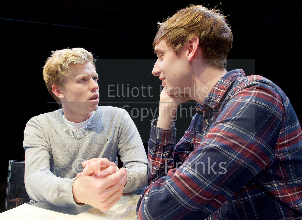 Positive<br /> by Shaun Kitchener <br /> at Park Theatre, Park 90, Finsbury Park, London , Great Britain <br /> 8th July 2015 <br /> press photocall<br /> <br /> directed by Harry Burton <br /> <br /> Timothy George as Benji <br /> <br /> Shaun Kitchener <br /> <br /> <br /> Photograph by Elliott Franks <br /> Image licensed to Elliott Franks Photography Services