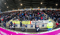 South stand, second half. <br /> Falkirk 1 v 1 Hibernian, Scottish Championship game played 17/1/2015 at The Falkirk Stadium.