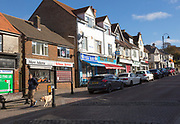 Local shops in town centre of Tidworth, Wiltshire, England, UK