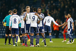after West Brom win 2-0 - Photo mandatory by-line: Rogan Thomson/JMP - 07966 386802 - 11/02/2015 - SPORT - FOOTBALL - West Bromwich, England - The Hawthorns - West Bromwich Albion v Swansea City - Barclays Premier League.