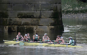 Mortlake/Chiswick, GREATER LONDON. United Kingdom. 2017 Women's Boat Race winners CUWBC, celebrate, after crossing the and winning the race. The Championship Course, Putney to Mortlake on the River Thames.<br /> <br /> Crew:Bow: Ashton Brown – CAN/AUS, 2: Imogen Grant, 3: Claire Lambe – IRL, 4: Anna Dawson, 5: Holly Hill, 6: Alice White, 7: Myriam Goudet – FRA, Stroke: Melissa Wilson and Cox: Matthew Holland Coach, Rob BAKER<br /> <br /> <br /> Sunday  02/04/2017<br /> <br /> [Mandatory Credit; Peter SPURRIER/Intersport Images]
