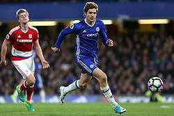 8 May 2017 - Premier League Football - Chelsea v Middlesbrough<br /> Marcos Alonso of Chelsea<br /> Photo: Charlotte Wilson