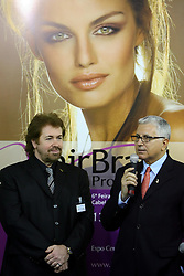 Klaus Peter Ochs, presidente da Intercoiffure e Francisco Santos, presidente da Hair Brasil durante a abertura oficial da HAIR BRASIL - 6º Feira Internacional de Beleza, Cabelos e Estética, que acontece de 13 a 16 de abril de 2007, no Expo Center Norte, em São Paulo. FOTO: Jefferson Bernardes/Preview.com