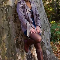 Autumn photos with model Anna Magyar in Budapest, Hungary on November 05, 2011. ATTILA VOLGYI