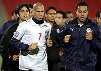 Fotball<br /> Confederations Cup 2009<br /> 16.06.2009<br /> Trening Egypt<br /> Foto: Gepa/Digitalsport<br /> NORWAY ONLY<br /> <br /> Bild zeigt Wael Gomaa und Ahmed Farag (EGY)