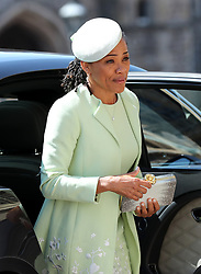 Doria Ragland arrives at St George's Chapel at Windsor Castle for the wedding of Meghan Markle and Prince Harry.