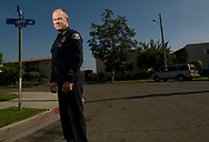 Former Anaheim Chief of Police John Welter on Anna Drive, where Manuel Diaz was shot and killed by officer Nick Bennallack in 2012, setting off riots in the city.