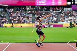 London, August 12 2017 . Bastien Auzeil, France, the men's decathlon javelin on day nine of the IAAF London 2017 world Championships at the London Stadium. © Paul Davey.