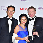 Thomas Chan DL and wife and Jast Eat - Graham Corfield attend the British Takeaway Awards 2020 on 27th January 2020, Savoy