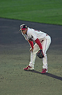 July 26, 2001 - Cleveland, Ohio - Cleveland Indians second baseman Roberto Alomar stands on the infield in a MLB game against the Chicago White Sox at Jacobs Field in Cleveland Ohio. Alomar was elected to the National Baseball Hall of Fame on Jan. 6, 2011.