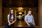 My Feral Heart actors Pixie Le Knot and Steven Brandon pose for a portrait at The Westin San Jose in San Jose, California, on March 3, 2016. (Stan Olszewski/SOSKIphoto)