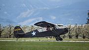 Aeronca L3 taking off at WAAAM.