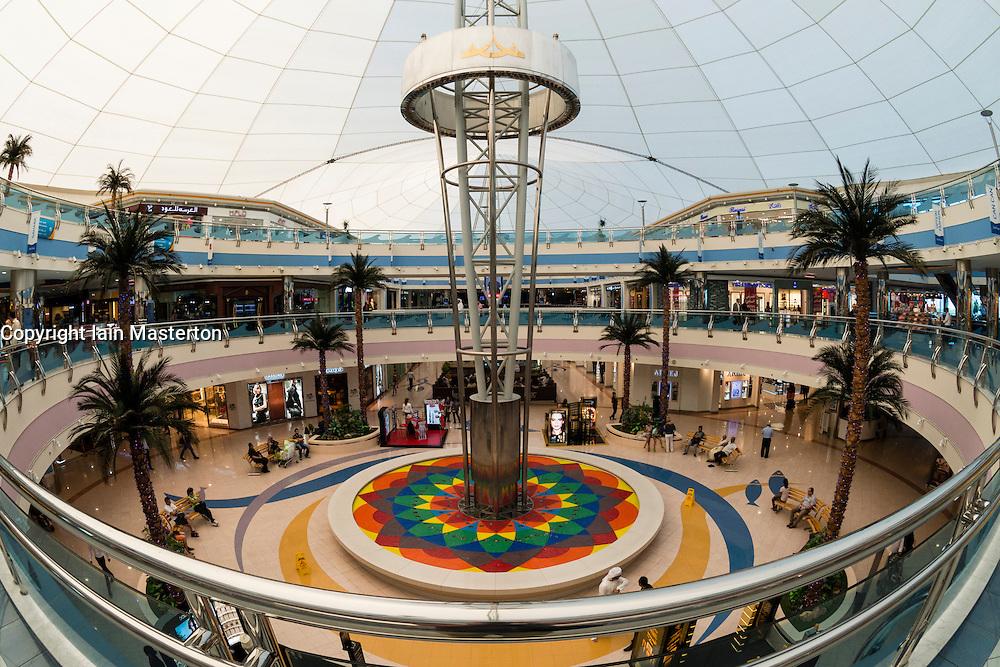 Interior of Marina Mall shopping center in Abu Dhabi in United Arab Emirates UAE