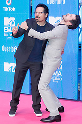 Diego Luna, Michael Pena attend the MTV Europe Music Awards held at the Bilbao Exhibition Centre, Spain on November 4, 2018. Photo by Archie Andrews/ABACAPRESS.COM