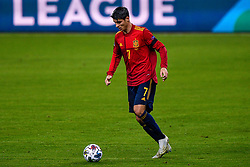 SEVILLE, SPAIN - Tuesday, November 17, 2020: Alvaro Morata of Spain during the UEFA Nations League match between Spain and Germany at Estadio La Cartuja de Sevilla on november 17, 2020 in Seville, Spain (Photo by Jeroen Meuwsen/Orange Pictures)