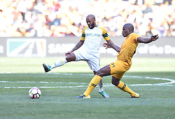 Kaizer Chiefs Willard Katsande and Mamelodi Sundowns player Oupa Manyisa battle for the ball during the Shell Helix Ultra Cup at FNB stadium, Johannesburg.<br />Picture: Itumeleng English/African News Agency (ANA)