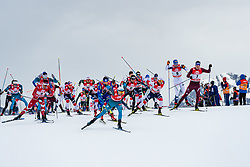 28.01.2018, Seefeld, AUT, FIS Weltcup Langlauf, Seefeld, FIS Weltcup Langlauf, 15 km Sprint, Herren, im Bild Athleten // Athletes during men's 15 km sprint of the FIS cross country world cup in Seefeld, Austria on 2018/01/28. EXPA Pictures © 2018, PhotoCredit: EXPA/ Stefan Adelsberger