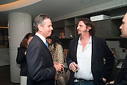 AMERICAN RESTAURANTER; THOMAS KELLER;  JAY RAYNER, The French Laundry reception to celebrate the October opening of the 10-day pop-up ' French laundry restaurant in Harrods. The Penthouse, Harrods. London. 31 August 2011.<br /> <br />  , -DO NOT ARCHIVE-© Copyright Photograph by Dafydd Jones. 248 Clapham Rd. London SW9 0PZ. Tel 0207 820 0771. www.dafjones.com.