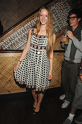 Model MORWENNA LYTTON COBBOLD at a party to celebrate the launch of Independent (Formerly ICM) held at Mahiki, 1 Dover Street, London W1 on 17th September 2007.<br />