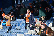 Blackpool fan enjoy the winter sun during the EFL Sky Bet League 1 match between Portsmouth and Blackpool at Fratton Park, Portsmouth, England on 24 February 2018. Picture by Adam Rivers.