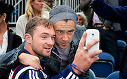 Colin Farrell , Irish actor attends the world homeless soccer