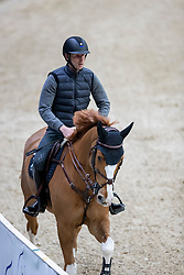 DEVOS Pieter (BEL), Apart<br /> Göteborg - Gothenburg Horse Show 2019 <br /> Longines FEI Jumping World Cup™ Final<br /> Training Session<br /> Warm Up Springen / Showjumping<br /> Longines FEI Jumping World Cup™ Final and FEI Dressage World Cup™ Final<br /> 03. April 2019<br /> © www.sportfotos-lafrentz.de/Stefan Lafrentz